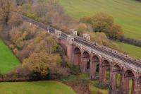 Balcombe Viaduct aerial photography by Bob Kember from an R44 helicopter