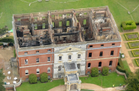 Clandon House aerial photograph  undertaken in an R44 helicopter