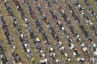 Car Boot sale aerial photograph by Bob Kember from an R44 helicopter